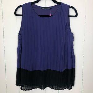 Purple accordion tank top